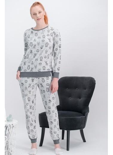 Arnetta Arnetta Little Fox Açık Grimelanj Kadın Pijama Takımı Gri